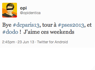 Tweet de Romain Jarraud